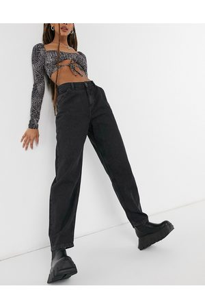 Noisy May Sella balloon leg jeans in washed black