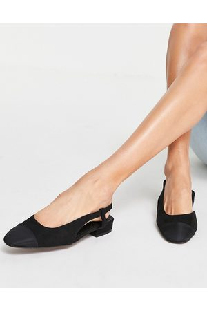 ASOS Lively slingback ballet flats in black
