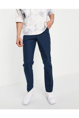 Farah Hopsack 100 slim fit trousers-Blue