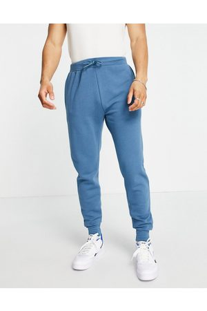 Le Breve Co-ord slim fit joggers in blue stone