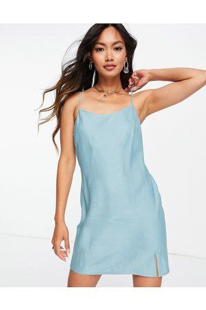 ASOS Mini slip dress in duck egg-Blue
