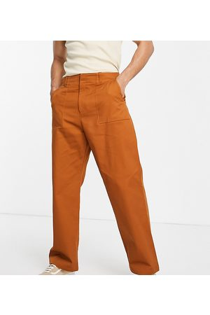 COLLUSION Straight leg utility trousers in rust-Neutral