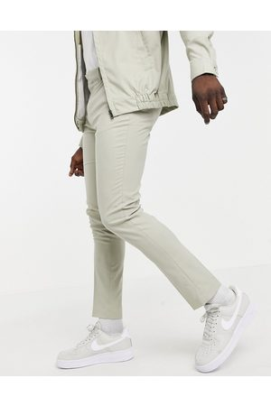 ASOS Skinny smart trousers co-ord in stone-Neutral