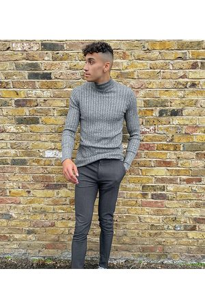 ASOS Tall super skinny smart trouser in charcoal-Grey