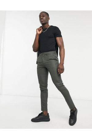 ASOS Herre Chinos - Skinny suit trousers in forest green