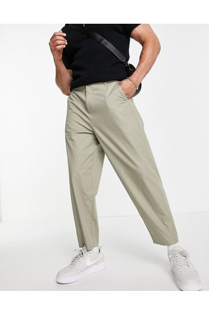 ASOS Lightweight oversized tapered trousers in -Neutral