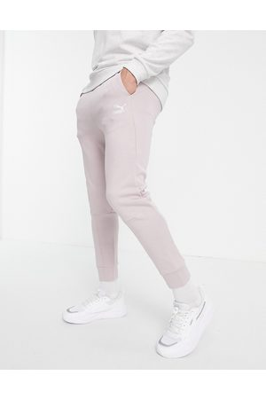 PUMA Classics Tech joggers in taupe-Pink