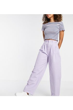 Reclaimed Dame High waist - Inspired 97 wide mom in lavender wash-Purple