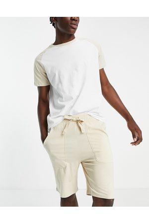 ASOS Herre Pyjamaser - Lounge pyjama set with raglan t-shirt-Multi