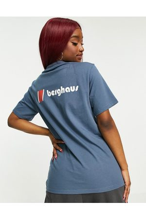 Berghaus Heritage front and back logo t-shirt in blue