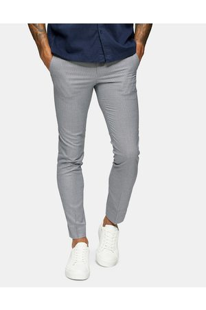 Topman Skinny suit trouser in grey houndstooth check