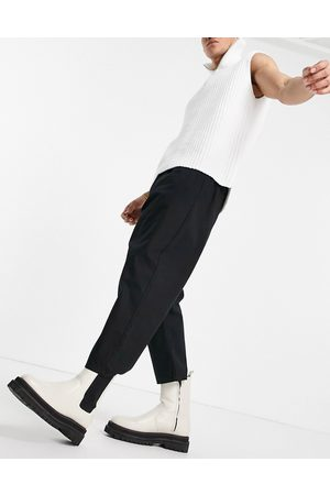 ASOS Drop crotch trousers in black
