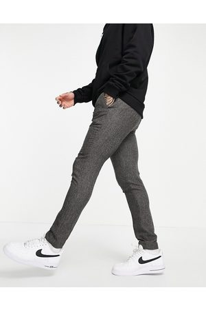 ASOS Skinny suit trousers in grey nep texture