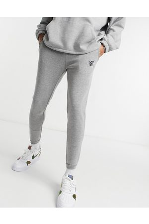 SikSilk Jacquard trousers in grey check
