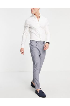 ASOS Super skinny suit trousers in blue nep texture