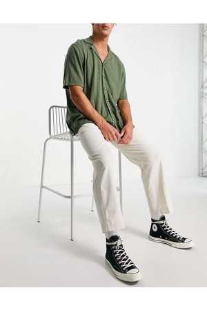 SELECTED Linen trousers loose fit white