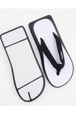 Havaianas Dame Flip flops - Tradi Zori square toe flip flops in white mix