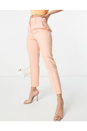 ASOS Tailored smart mix & match cigarette suit trousers in peach-Pink