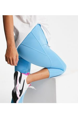 ASOS Maternity icon run tie waist capri legging-Blue