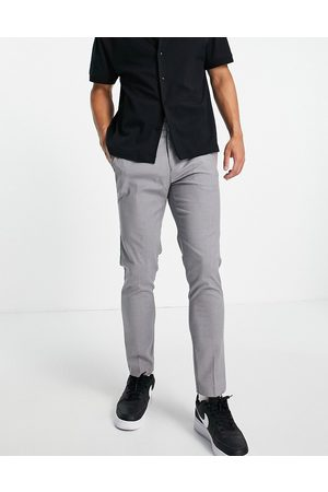 Burton Skinny fit recycled smart trousers in light grey