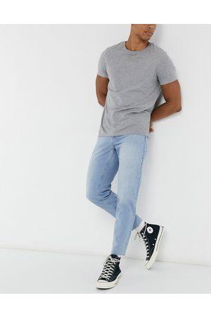 ASOS Herre Skinny - Classic rigid jeans in light blue wash with raw hem