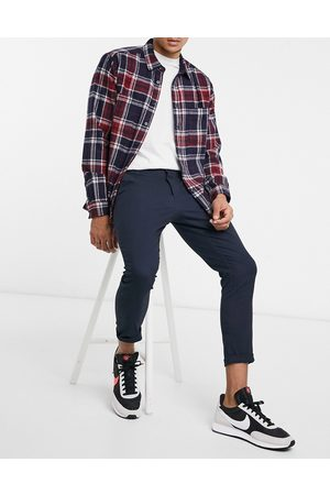 ASOS Super skinny cropped chinos in navy