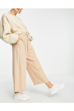 & OTHER STORIES Disty floral culottes in -Neutral