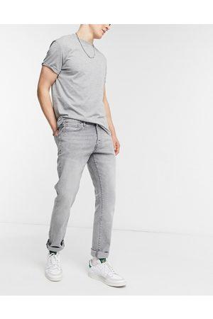 Topman Organic cotton blend stretch slim jeans in grey