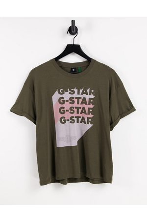 G-Star Graphic logo t-shirt in green