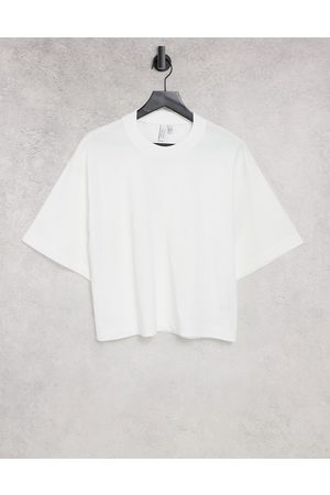 & OTHER STORIES Organic cotton oversized t-shirt in white
