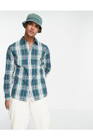 Lacoste Check long sleeve shirt-Blue