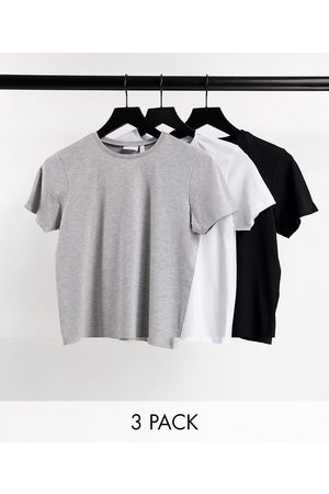 ASOS Ultimate organic cotton t-shirt with crew neck 3 pack SAVE in black, white & grey-Multi