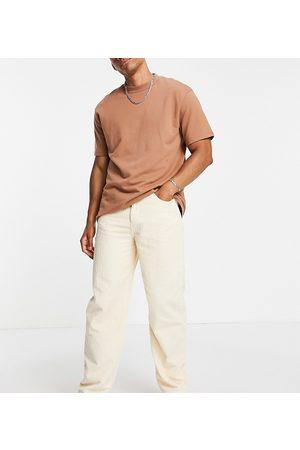 Reclaimed Inspired 90s baggy jean in ecru cord-White
