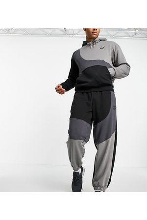 PUMA Herre Joggebukser - Convey joggers in black colourblock exclusive to ASOS