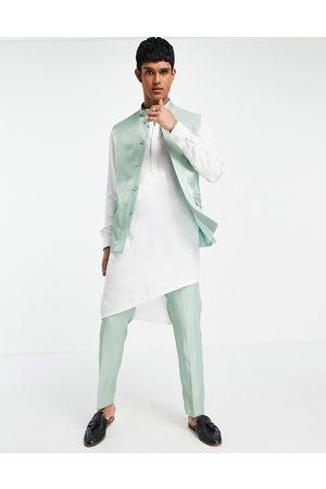 ASOS Herre Chinos - Wedding slim suit trousers in high shine green