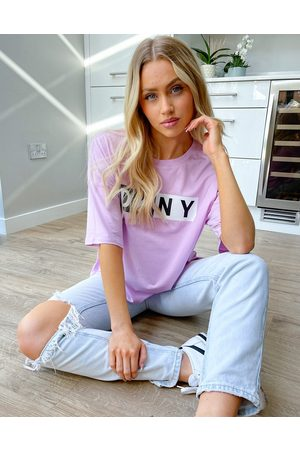 DKNY Two tone t-shirt in lilac-Purple