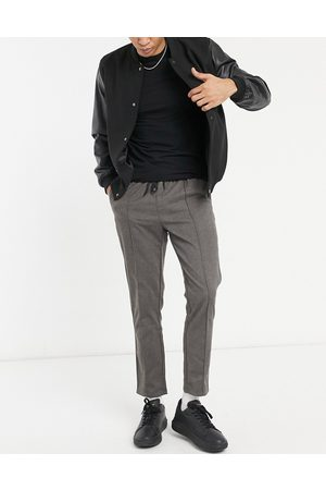ASOS Slim trousers in grey with elasticated waist