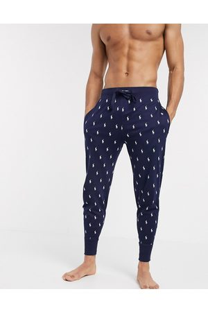 Polo Ralph Lauren Lounge jogger in navy with all over print logo