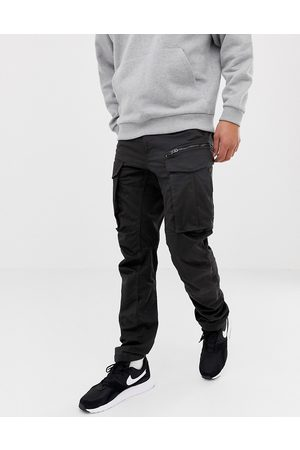 G-Star Rovic tapered fit zip cargo pants 3D in black