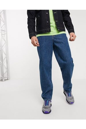 ASOS Baggy jeans in mid wash blue