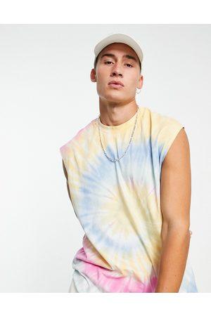 ASOS Oversized vest in tie dye-Multi