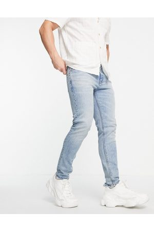 ASOS Cone Mill Denim skinny fit 'American classic' jeans in vintage mid wash-Blue