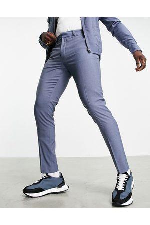 ASOS Slim smart trousers co-ord in denim blue