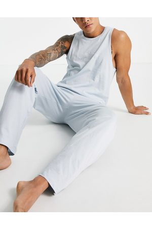 ASOS Lounge vest and trouser set in blue