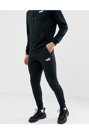 PUMA Essentials small logo slim joggers in black