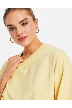 & OTHER STORIES Dame Sett - Organic cotton co-ord oversized t-shirt in yellow