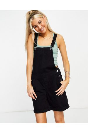 ONLY Dungaree playsuit in washed black