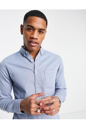 ASOS Slim denim shirt in blue