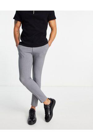 ASOS Super skinny cropped smart trouser in grey