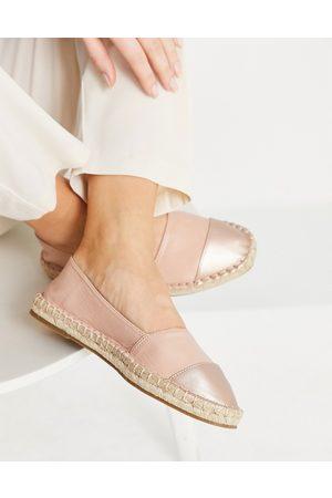 ASOS Dame Espadrillos - Joy toe-cap espadrilles in pink and rose gold-Neutral